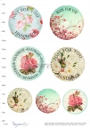 Papier decoupage: etykiety  - made for you, handmade