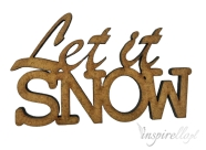 Napis Let it SNOW 7,2x4,4cm