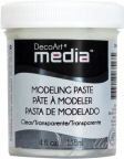 Decoart Media - Modeling Paste 118ml Transparentna