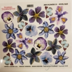 Sospeso - folia z nadrukiem MINI 16cm - FLOWERS ROYAL BLUE