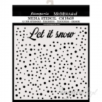 SZABLON 3D 18x18 cm CHRISTMAS LET IT SNOW