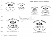 Grafika do transferu: sweet home COFFIE